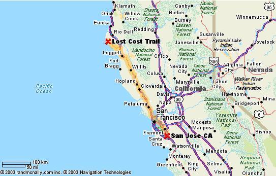 Lost Coast Map
